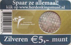 5 euro. Netherland 2005. Peace