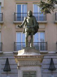 Monument Cervantes Plaza de las Cortes