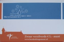 5 euro Netherland 2011 Mint folder2