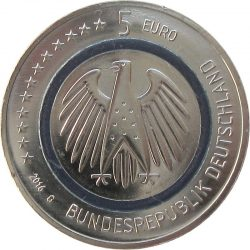 Germany 2016. 5 euro. Planet Erde obv