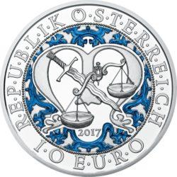 Austria 2017. 10 euro. Michael. Ag 925 Colored