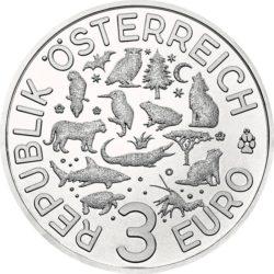 Austria 2017. 3 euro. tiger