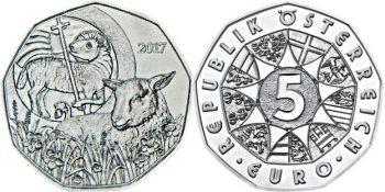 5 евро «Пасхальный агнец»