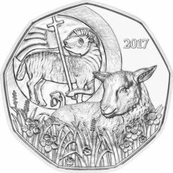 Austria 2017. 5 euro. Osterlamm Ag