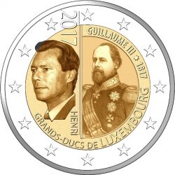 2 euro 2017 lux Guillaume III