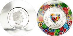 Cook Islands 2015 5 dollars Murrine Millefiori Glass Art