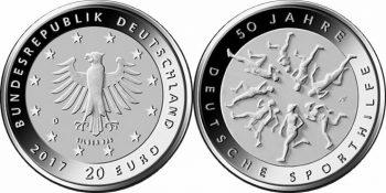 Germany 2017 20 euro Deutsche Sporthilfe
