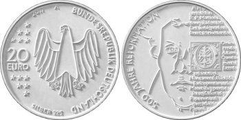 Germany 2017. 20 euro. Reformation