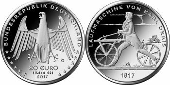 Germany 2017 20 euro Velo