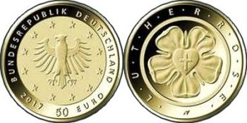 Germany 2017 50 euro Lutherrose
