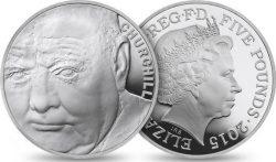 COTY UK 2015 5 pounds Winston Churchill
