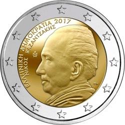 2 euro Greece 2017 Kazantzakis