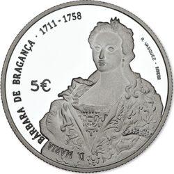 Portugal 2017. 5 euro. Barbara de Braganca