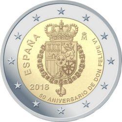 2 euro Spain 2018 Felipe