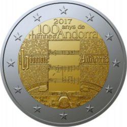 2 euro Andorra 2017 hymn