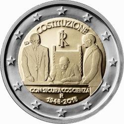 2 euro Italy 2018 Constitution