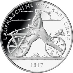 Germany 2016 20 euro Bicycle obv