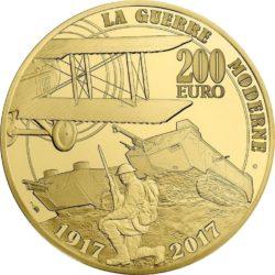 France 2017. 200 euro. Grande Guerre