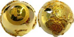 Golden Diamond Globe 2$ Niue 2017