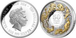 Niue 2016 $10 Decimal Changeover