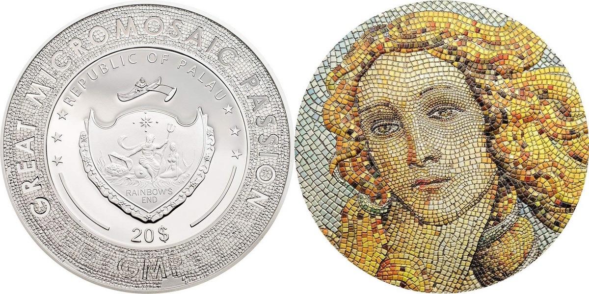 Palau 2017. 20 dollars. Birth of Venus