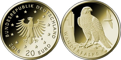 Germany 2019 20 euro Wanderfalke