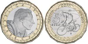 Italy 2019 5 euro. Fausto Coppi