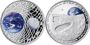 Italy 2019 5 euro Moon