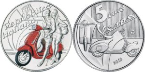 Italy 2019 5 euro Vespa