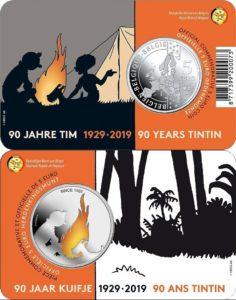 Belgium 2019 5 euro Tintin coincard color