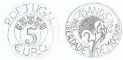 Portugal 2019 5 euro 1974