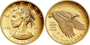USA 2017 100 dollars Lady Liberty