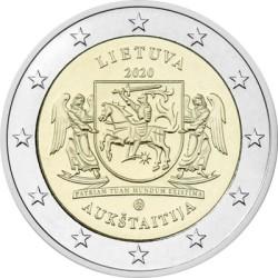2 euro Lietuva 2020 Aukstaitija