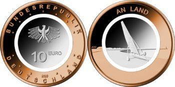 10 евро Германии 2020 «На суше»