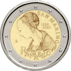 2 Euro San Marino 2020 Raffael