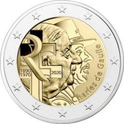 2 euro France 2020 Charles de Gaulle