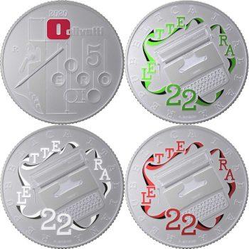 Italy 2020 5 euro. Olivetti