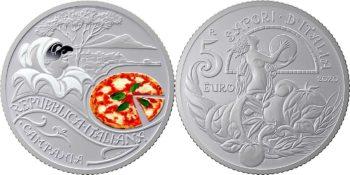 Italy 2020 5 euro. Pizza