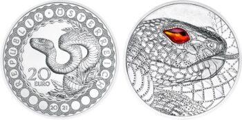 Austria 2021 20 euro Snake