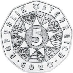 Austria 2021 5 euro Janus ag obv