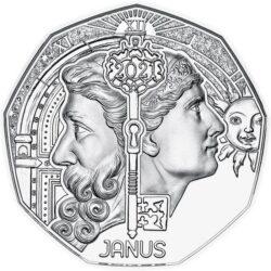 Austria 2021 5 euro Janus ag rev