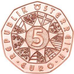 Austria 2021 5 euro Janus cu obv