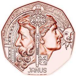 Austria 2021 5 euro Janus cu rev