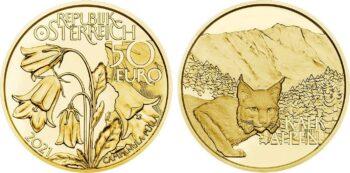 50 евро Австрии 2021. «Альпийские леса»