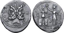 Denarius. Rome, 120 BC. Ianus