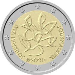 """2 евро Финляндии """"Журналистика"""". 2021"""