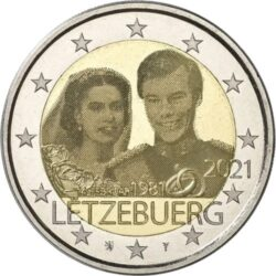 2 euro Luxembourg 2021 wedding