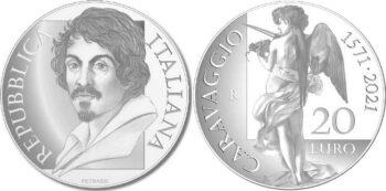 Italy 2021 20 евро Caravaggio