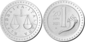 Italy 2021 20 евро Lira