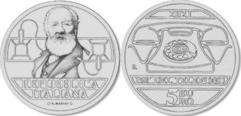 Italy 2021 5 евро Antonio Meucci